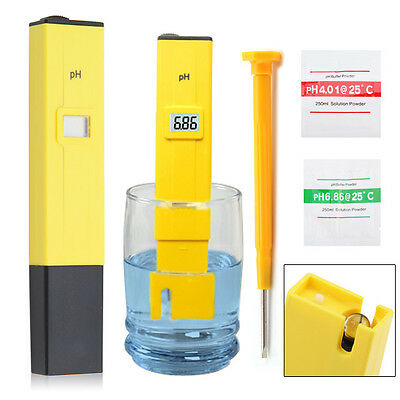 Portable Electric Digital Ph Meter Test Hydroponics Pen Aquarium Pool Water Test