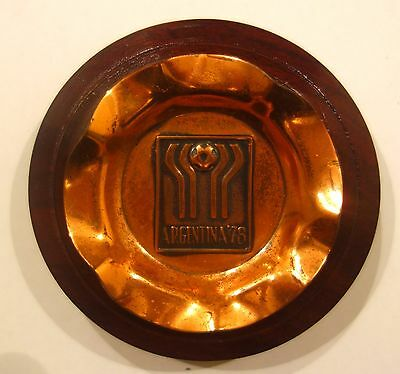 Wooden Plate Marking The 1978 World FIFA Cup Argentina