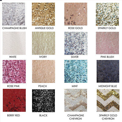 Sequin Linen Sample Swatches (Table Runners & Cloths)