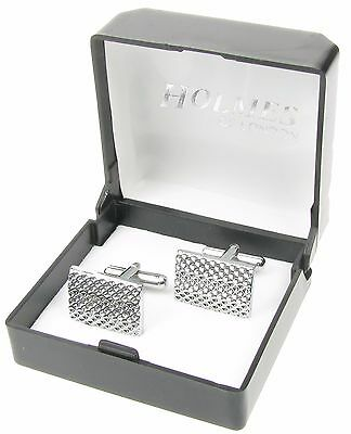 Cufflinks Mens Shirt Silver Black Wedding Ladies Tuxedo Xmas Giftbox New Uk Ck73