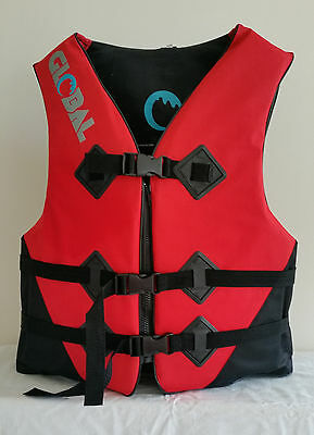 Buoyancy Ski Vest Floatation Device PFD2 Adult Red Jetski Wakeboard skiers Kayak