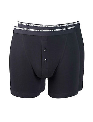 Jockey Modern Classic Boxer Trunks 2 Pair Pack Black Jockey Underwear 18501912