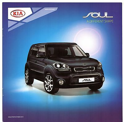 Kia Soul 2011-12 UK Market Sales Brochure 1 2 Hunter Quantum 1.6 GDi CRDi