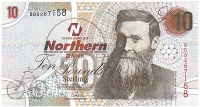 Northern Bank £10 Dated 2004, Prefix Bd, Uncirculated, Scarce