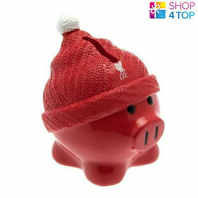 Liverpool Red Beanie Piggy Bank Money Box Saving Football Soccer Club Team New
