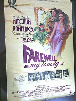 Farewell My Lovely Original Film Movie Poster Robert Mitchum Theatrical Release