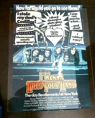 I Wanna Hold Your Hand Original Film Movie Poster Nancy Allen Theatrical Release