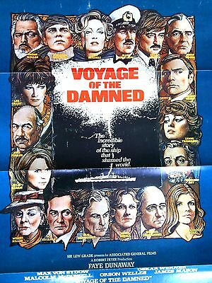 Voyage of the Damned Original Film Movie Poster Faye Dunaway Theatrical Release