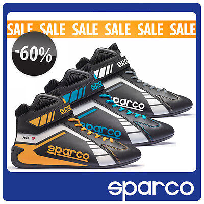 SALE Scorpion Shoes Sparco KB-5 Black Grey Blue Yellow Karting Racing Boots