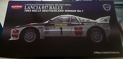 Kyosho 1:18 Auto Die Cast Lancia 037 Rally 1983 Deutschland Winner  Art 08302J