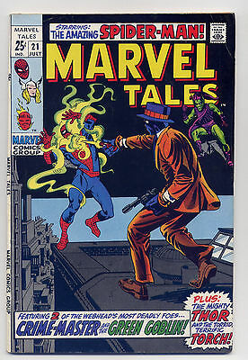 Marvel Tales #21 VG+ 1969 Comic Book Reprint Spiderman Thor Stan Lee Ditko Kirby