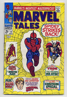Marvel Tales #14 VG 1968 Comic Book  Reprint Spiderman Thor Stan Lee Ditko