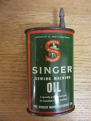 Vintage Singer Sewing Machine Oil Can Tin 3 Fl Oz - Vintage Sewing Machine Oil