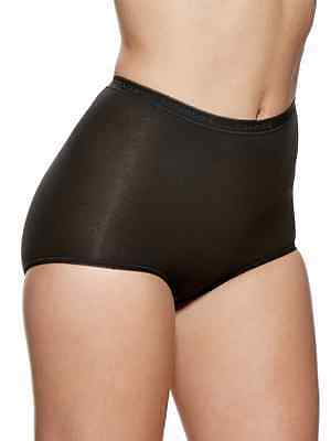 Charnos Maxi Briefs 2 Pack -Style 138910 - Black  Nude White Cotton Rich Briefs