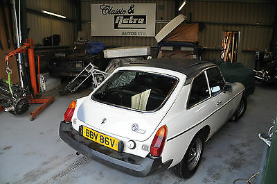 1980 Mg Mgb Gt Mgbgt In White With Mot* Deposit Taken Please See Our Other Items