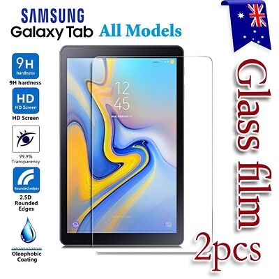 """2X Samsung Galaxy Tab A6 7.0 10.1 A S4 10.5"""" Tempered Glass Screen Protector"""