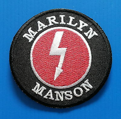 MARILYN MANSON MEMORABILIA Embrodered Iron Or Sewn On Patches Free Ship