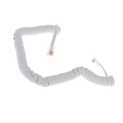 5.7ft White Telephone Extension Cable Cord Lead For All Phone Lines