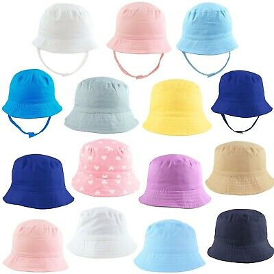 Sun Hat Baby Toddler Newborn Boonie Bush Bucket Summer 100% Cotton 0-4 Years