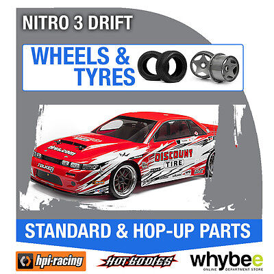 HPI NITRO 3 DRIFT [Wheels & Tyres] Genuine HPi 1/10 R/C Standard / Hop-Up Parts