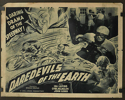 Daredevils Of The Earth A.k.a Money For Speed 1933 Orig. 22X28 Ida Lupino