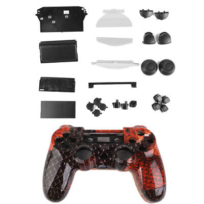 Dragon Controller Shell Housing Case Kit w/ Button for PlayStation4 PS4 Red
