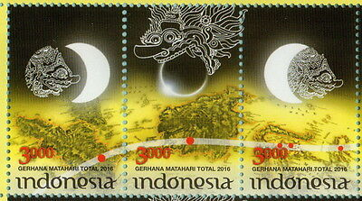 Indonesia 2016-3 Total Solar Eclipse Set Stamps Mnh
