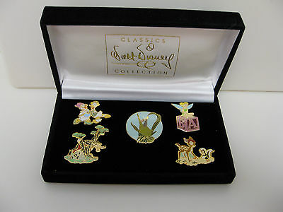 Disney WDCC 5 Pin Set in Box - Retired Sculptures NEW from 1999 Tinker Bambi