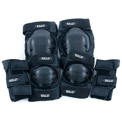Bullet Pad Set Standard Combo Knee Elbow Wrist Guard Adult One Size Fits All New