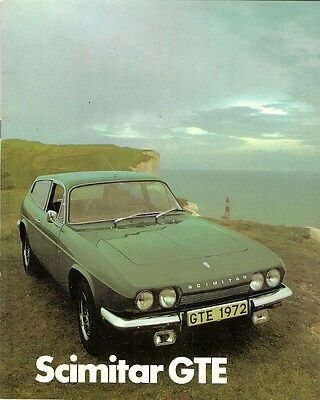 Reliant Scimitar GTE 1972 UK Market Sales Brochure