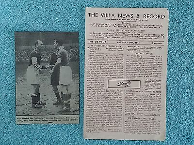 1948 - ASTON VILLA v BIRMINGHAM CITY PROGRAMME - FRIENDLY