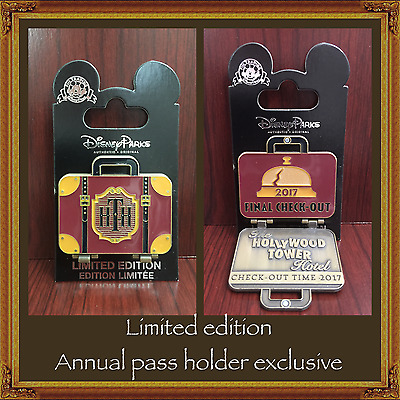 Disney Tower of Terror Limited Edition Annual Passholder Final Checkout 2017 pin