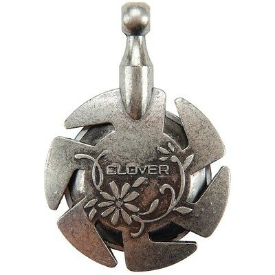 CLOVER - Yarn Cutter Pendant - Antique Silver