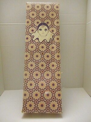 VINTAGE Bisque Pierrot Clown Doll by Russ Berrie in Box!