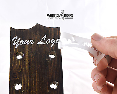 Custom Guitar Headstock Decals, Vinyl Decal Stickers, Choose your own font