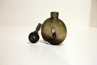 Vintage Glass Perfume Bottle with stopper - Hand Blown - 20th Century