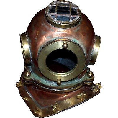Rare Original Soviet 3/12-bolt Diving Helmet with Top Window, 1973