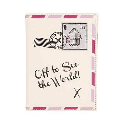 Vintage Letter Off To See The World PASSPORT COVER / HOLDER by Bombay Duck