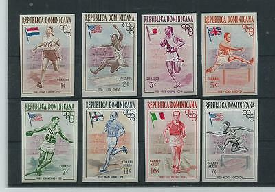 Dominican Republic 1956 OLYMPICS SET IMPERF ALL SUPERB MNH