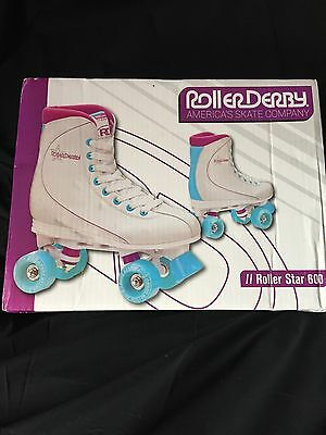 RDS Roller Star, Womans Quad High White Skates, Size7 1/2 to 8 (Aust sizing)