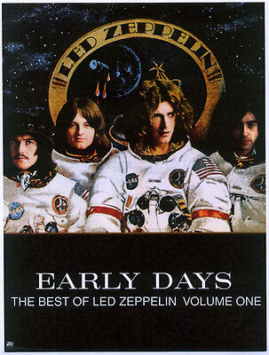 Led Zeppelin Repro 1999 Early Days Album Promo Poster . Jimmy Page Robert Plant