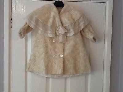 **ORIGINAL VINTAGE SMALL CHILD'S 'FAUX' FUR PLUSH COAT c. EARLY 20th CENTURY**