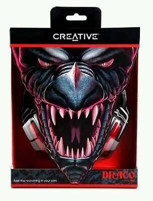 RRP £75 Creative Draco HS-850 PRO Gaming Headset PC/MAC BARGAIN NEW HEADSET