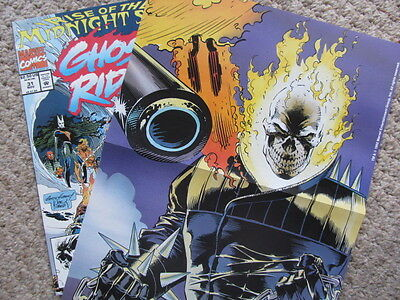 Ghost Rider 31 (1992) 'Rise of the Midnight Sons' with poster! Andy & Joe Kubert