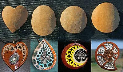 2 x Gourd Necklace/Pendant Carving Blank for making your own necklace