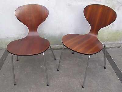 PAIR (2) OF PLYCRAFT / CHERNER BENTWOOD SIDE CHAIRS mid century modern
