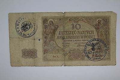 Poland Germany occupation banknote WW2/WWII