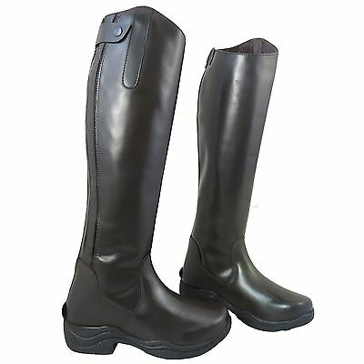 Ladies Horse Riding Show Jumping Tall Stable Yard Competition Leather Long Boots
