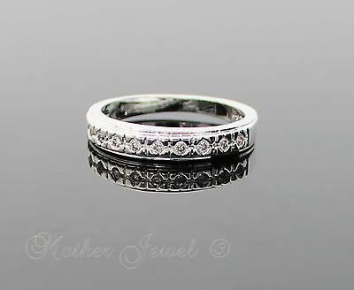 Sterling Silver Filled Simulated Diamond Girls Womens Ladies Dress Eternity Ring