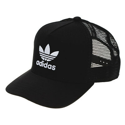 adidas Trefoil Trucker Cap in Black